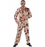 3-delig kostuum Desert Storm
