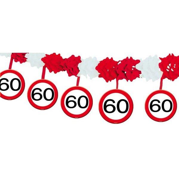 60 Jaar Verkeersbord Slinger met Onderhanger