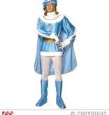 Blauwe prins kostuum