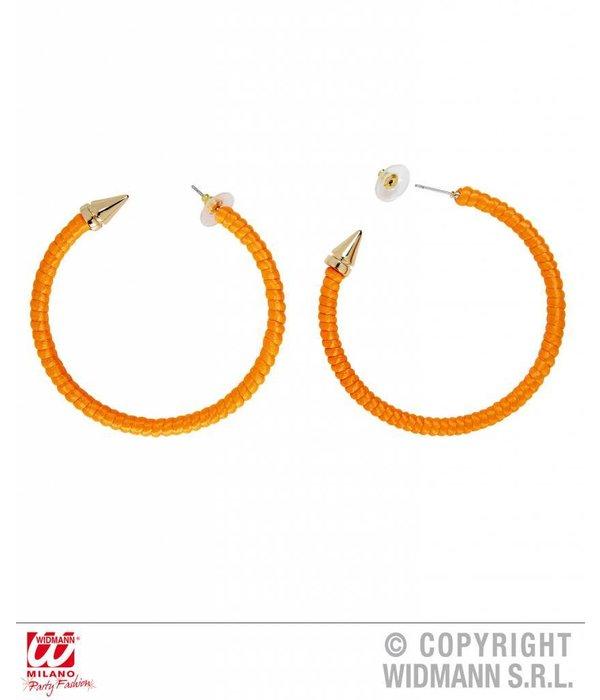 Oorbellen neon oranje
