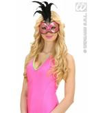 Glitter oogmasker met stenen roze