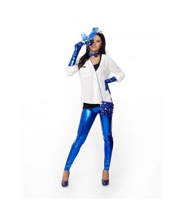 Strikje Metallic Blauw