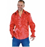 Blouse disco ruches populair rood