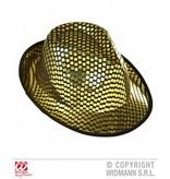 Fedora hoed vierkante pailletten goud