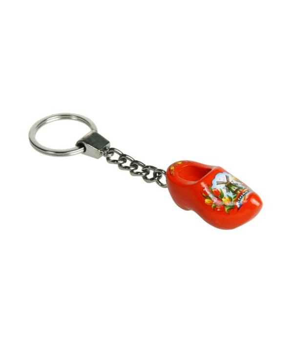 Sleutelhanger 1 klompje oranje 4cm