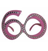 60 Jaar Bril Roze Diamantframe