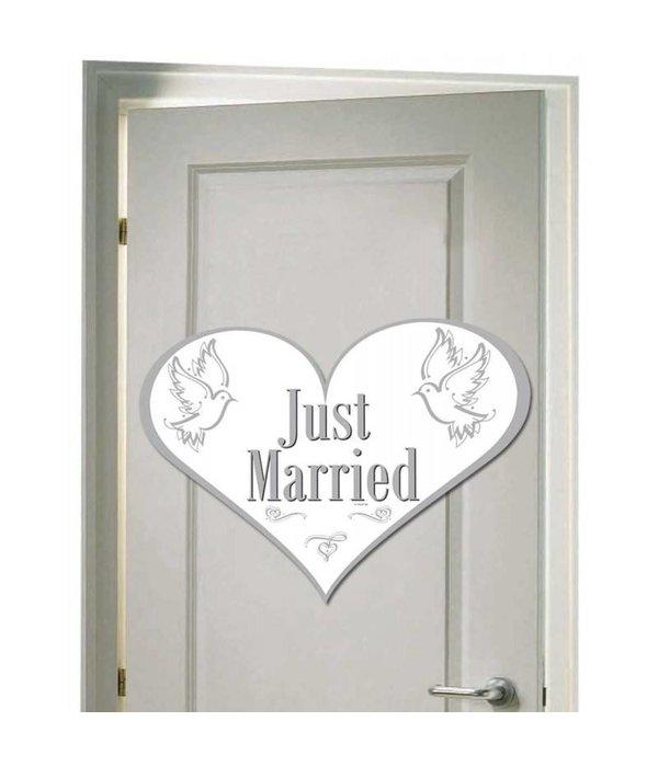 Deurbord Just Married