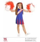 Cheerleader kind rood/blauw