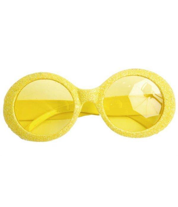Bril Disco neon geel