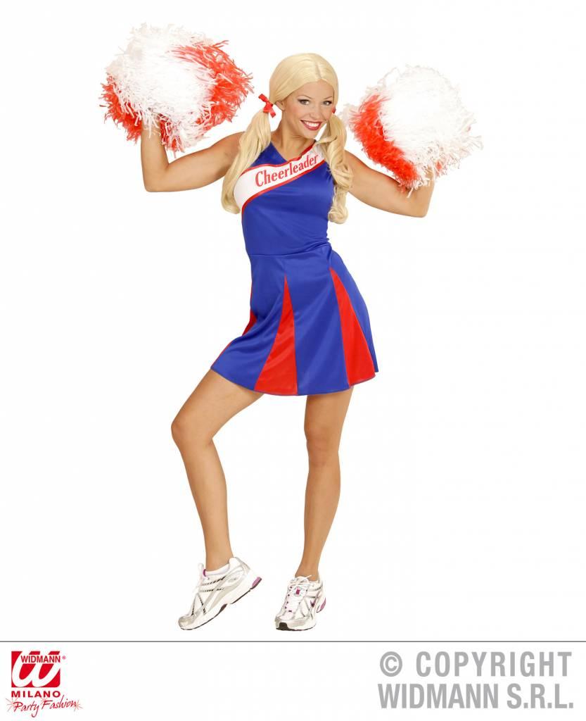 Cheerleader jurkje blauw/rood