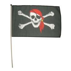 Piratenvlag op stokje