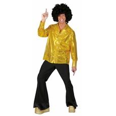 Disco blouse paillet goud