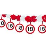 18 Jaar Verkeersbord Slinger met Onderhanger