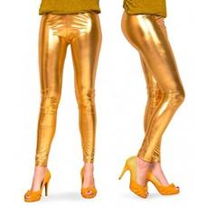 Gouden legging metallic