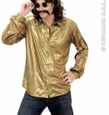 Party Glitterblouse man goud