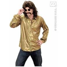 Party Glitterblouse man goud