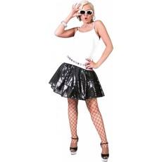 Disco rok glitter zwart
