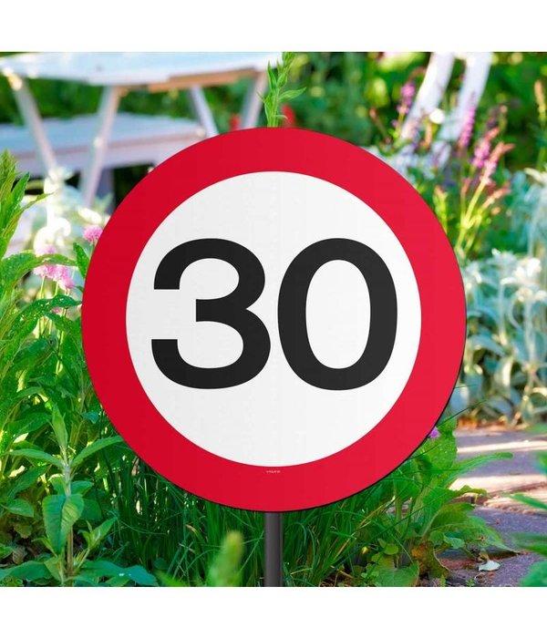 30 Jaar Verkeersbord Tuinbord