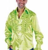 Rouches blouse fluor groen populair