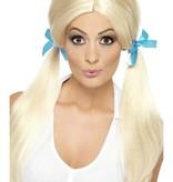 Schoolgirl pruik blond