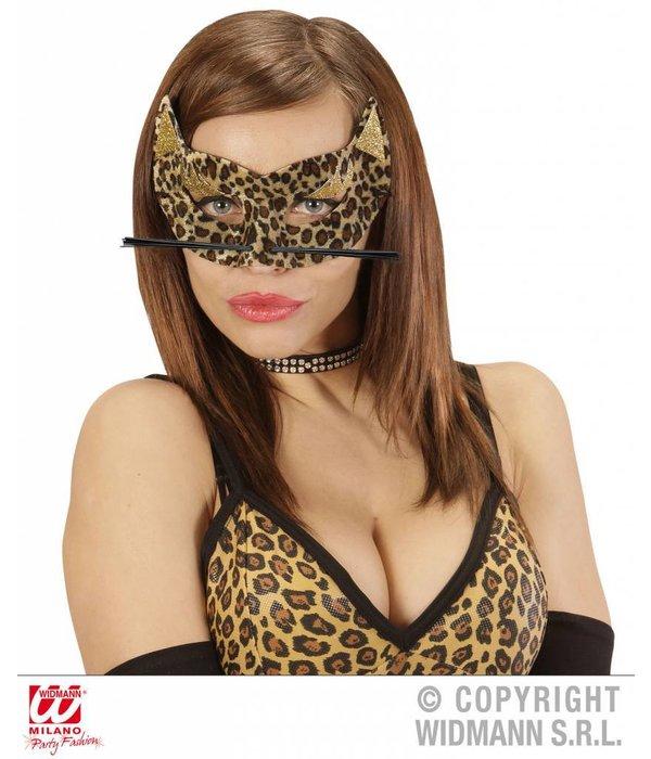 Luipaard masker fluweel