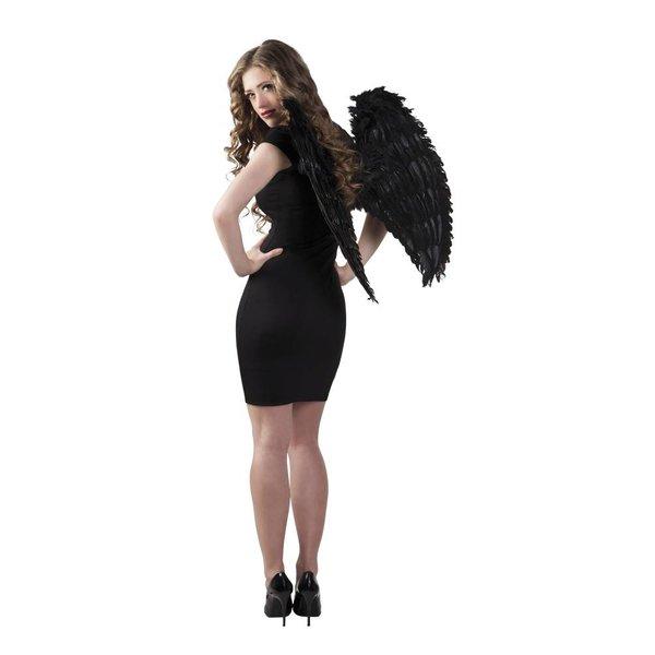 Engelenvleugel zwart 65x65cm