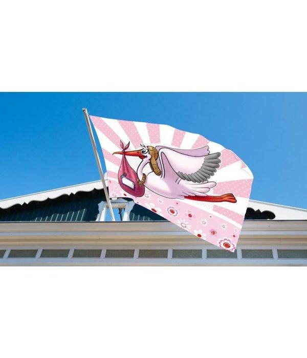 Raamvlag Geboorte Meisje - 60x90cm