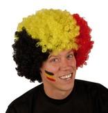 Pruik krullenbol groot Belgie