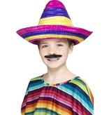 Sombrero hoed kind multikleur