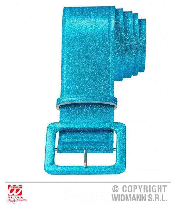 Glitterriem blauw
