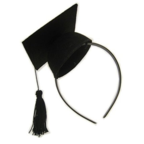 Afstudeerhoedje mini op hoofdband