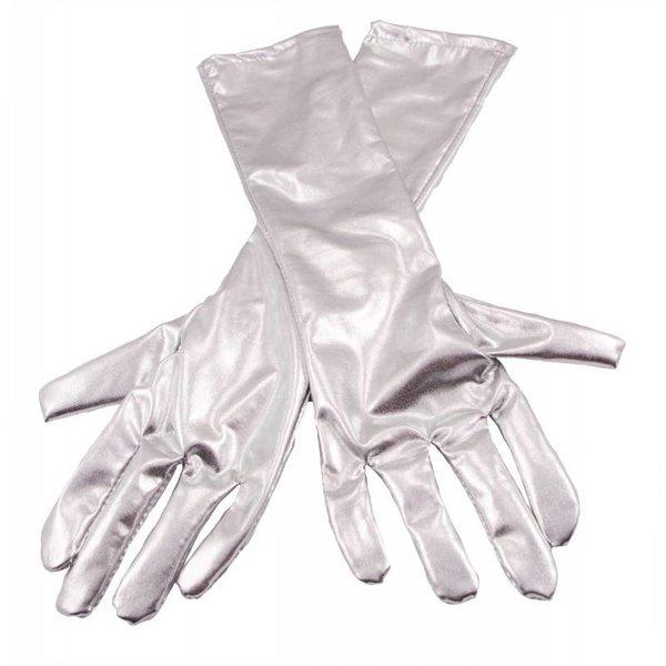 Handschoenen metallic zilver