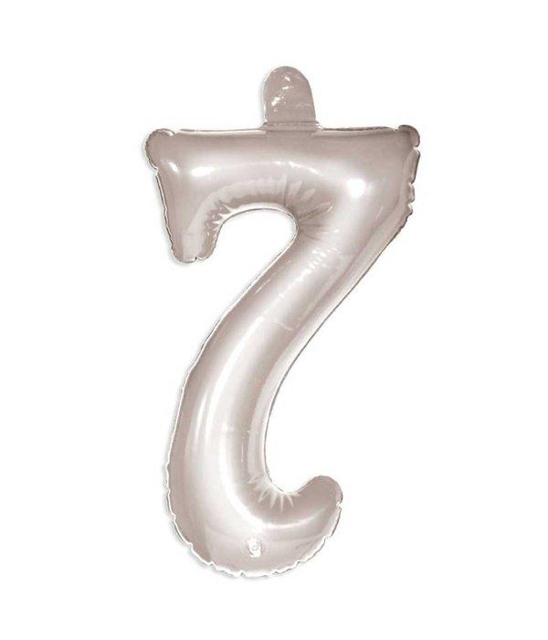 Opblaascijfer 7 zilver