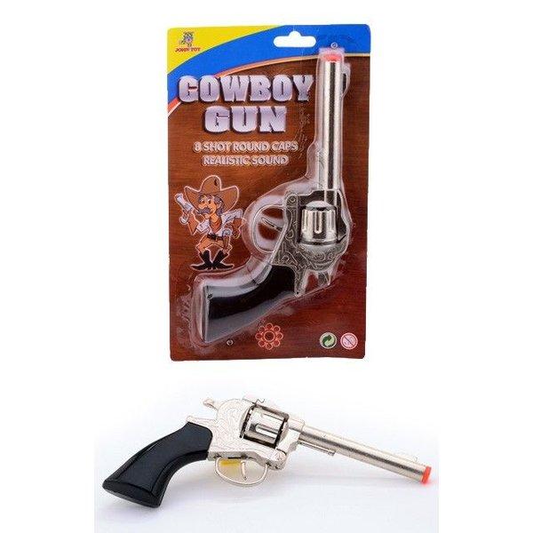 Cowboy klappertjes pistool 8 schots