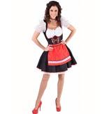 Tiroolse dame Salzburg rood