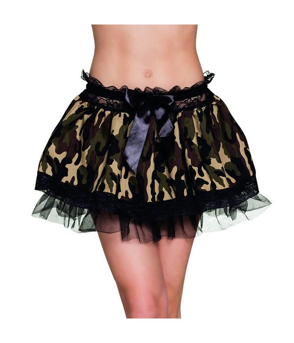 Camouflage petticoat leger