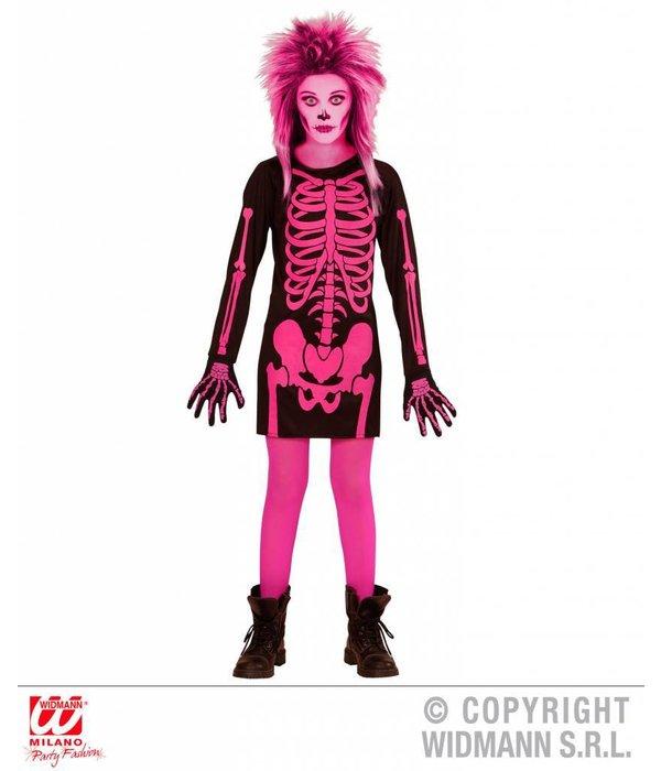 Skeletjurkje roze kind