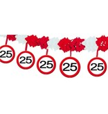25 Jaar Verkeersbord Slinger met Onderhanger
