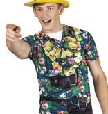 Realistisch foto Hawaii shirt tourist