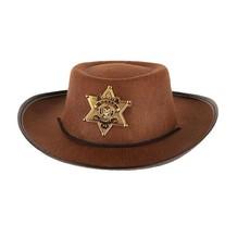 Hoed Cowboy kind bruin