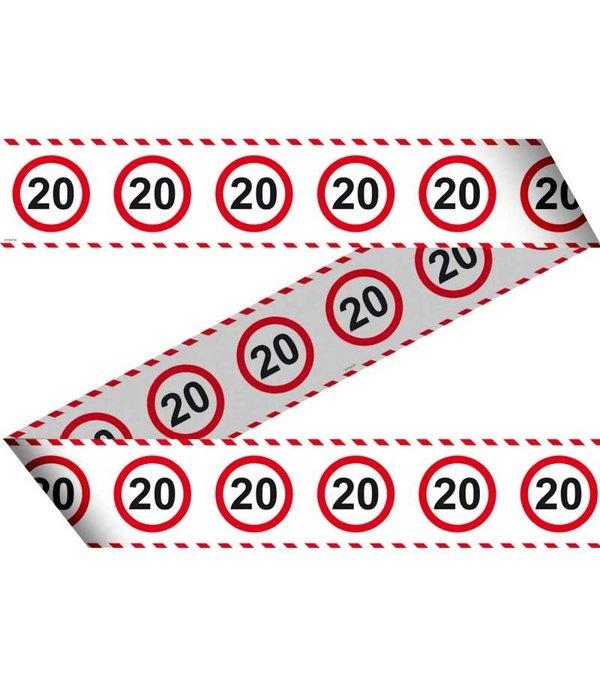 20 Jaar Verkeersbord Afzetlint - 15 meter