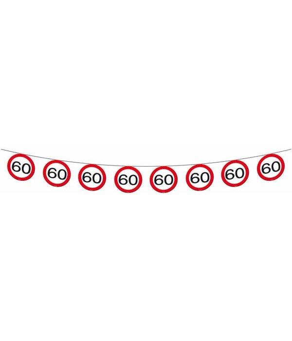 Vlaggenlijn verkeersbord '60'