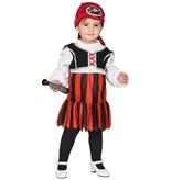Mini piratenmeisje kostuum