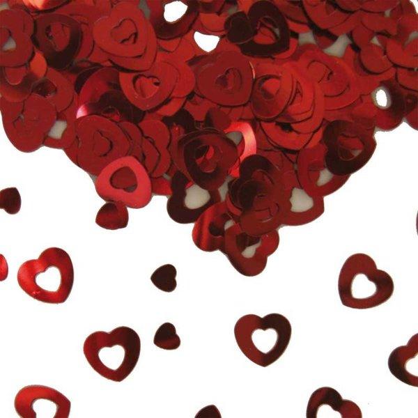Tafeldecoratie / sierconfetti hart rood