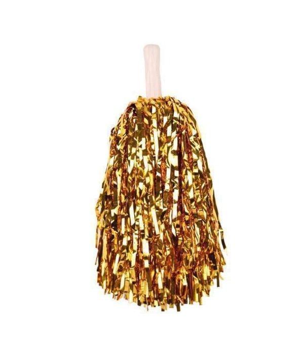 Pompom goud stick