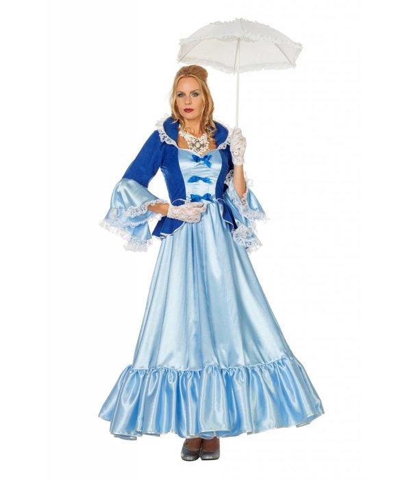 Markiezin kostuum Eloise blauw