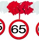 65 Jaar Verkeersbord Slinger met onderhangers