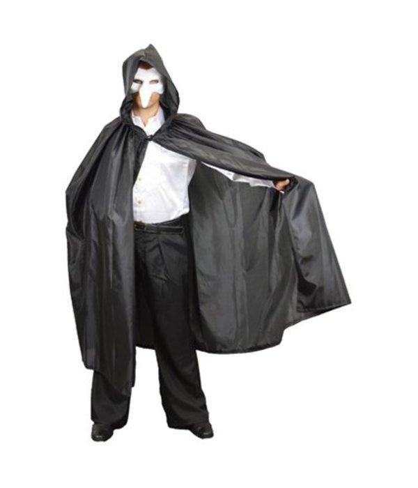 Halloween Cape zwart met capuchon