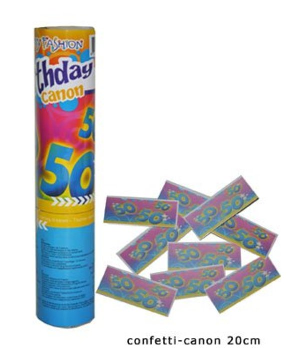 Confetti kanon verjaardag 50