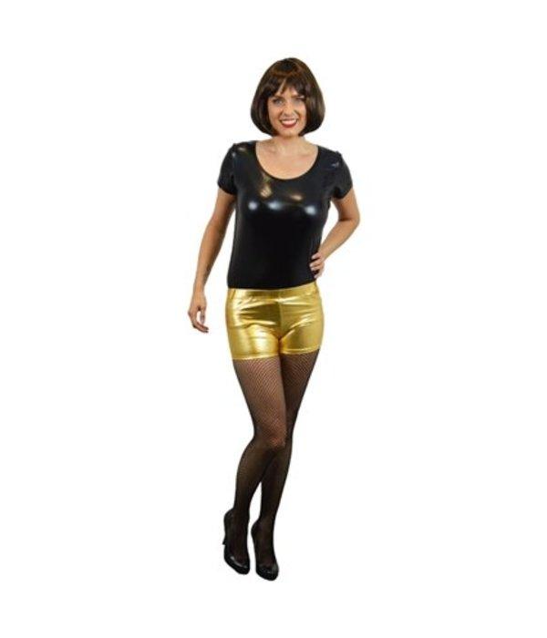 Hotpants metallic goud